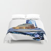 logo Duvet Covers featuring logo by Rebecca Ashe
