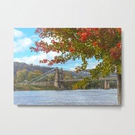 Fall at Wheeling Heritage Port Metal Print
