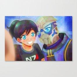 Mass Effect - Shakarian Selfie [Commissions] Canvas Print