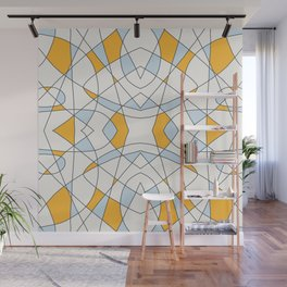 Abstract Retro Colored Church Window Wall Mural