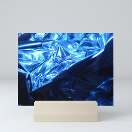 This Cold Elegance in Chrome Folds  Mini Art Print