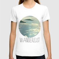 airplane T-shirts featuring wanderlust airplane by shans