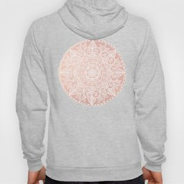 White Mandala on Rose Gold Hoody