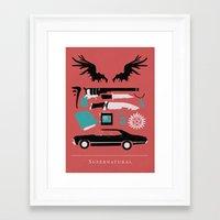 supernatural Framed Art Prints featuring Supernatural by Abbie Imagine