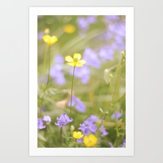 pretty florals Art Print