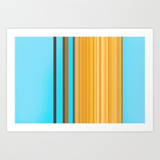 Sablo Lio Blue Yellow Art Print