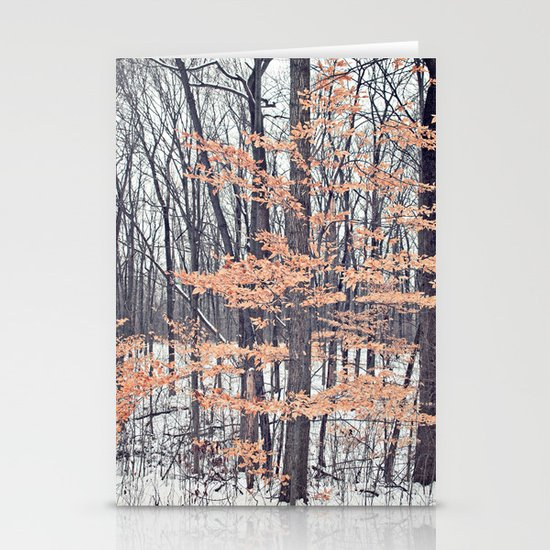 Snow in the Woods Stationery Cards