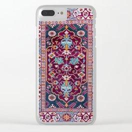 Romanian  Antique  Double Niche Carpet Print Clear iPhone Case