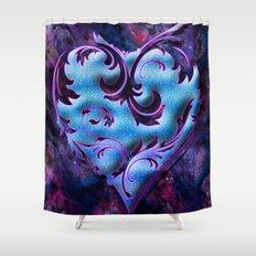 Heart Design Shower Curtain
