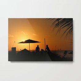 Turks & Caicos Sunset Metal Print
