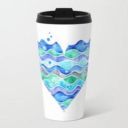 A Sea of Love (white) Travel Mug