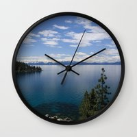 clear Wall Clocks featuring Clear Water by Chris Root