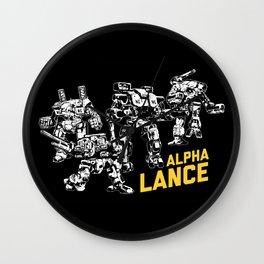 Alpha Lance Wall Clock