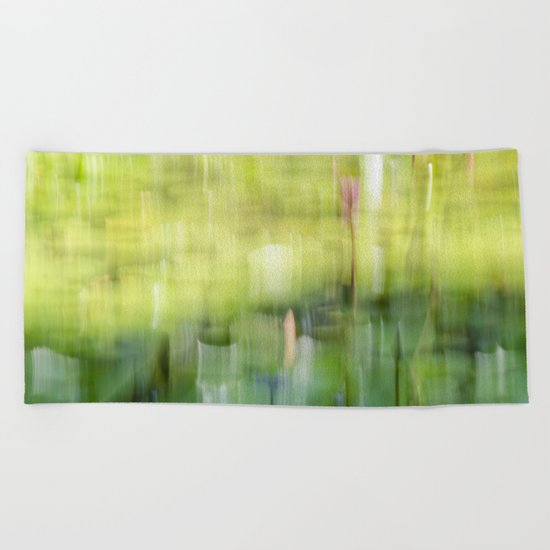 Tropical Impressionism - Lily Pond Beach Towel