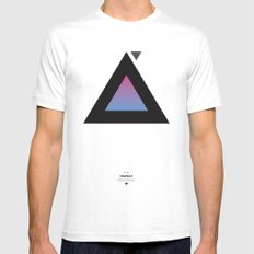 The Triangle Experiment White Mens Fitted Tee MEDIUM
