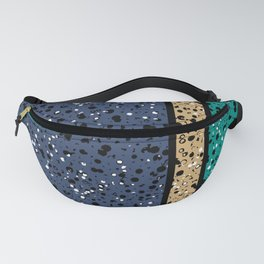 Speckled Blue Beige Emerald Fanny Pack