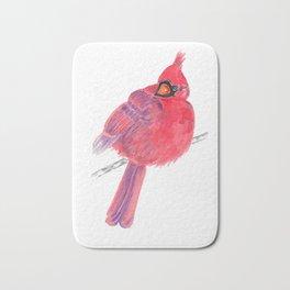 Glancing Cardinal Bath Mat
