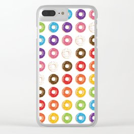 Yup, Some Rainbow Doughnuts Cause Why Not? Clear iPhone Case