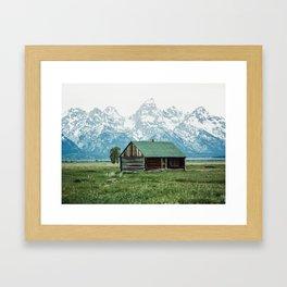 Teton Cabin Framed Art Print