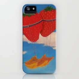 flying strawberries  iPhone Case