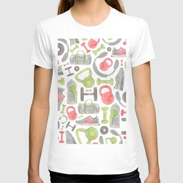 Gym Pattern T-shirt