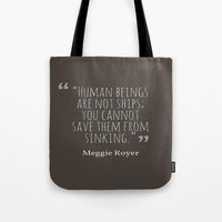 ships Tote Bags featuring Ships by Writingsforwinter