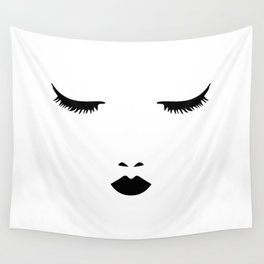 Dreaming Woman Sleeping Wall Tapestry