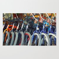 bikes Area & Throw Rugs featuring bikes by ARTography by TLB