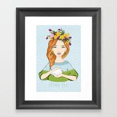 Spring girl Framed Art Print