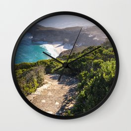 View of Cape Point in Cape Town, South Africa Wall Clock