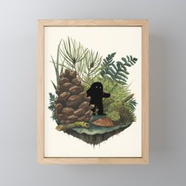 Tiny Sasquatch Framed Mini Art Print
