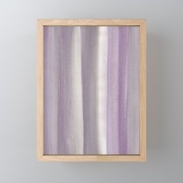 Purple Gray Watercolor Dream #1 #painting #decor #art #society6 Framed Mini Art Print