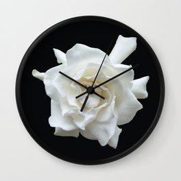 Gardenia on Black DPG150524 Wall Clock