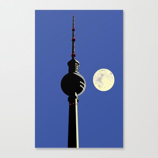 Berlin Moon Canvas Print