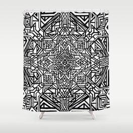 Blueprint of Consciousness Shower Curtain