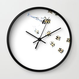 Faux Pearls Partial Wall Clock