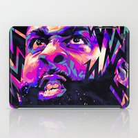 nba iPad Cases featuring JAMES HARDEN: NBA ILLUSTRATION V2 by mergedvisible