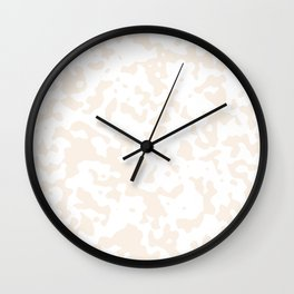 Spots - White and Linen Wall Clock