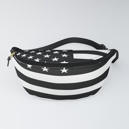 Black And White Stars And Stripes Fanny Pack