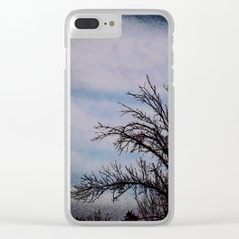 Beyond The Boundaries Of Night Clear iPhone Case
