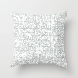 Be square. Be Serene. Be present. Throw Pillow