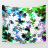 jungle Wall Tapestries featuring jungle by Lydia Cheval