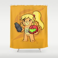 samus Shower Curtains featuring Samus Bearan by pepemaracas