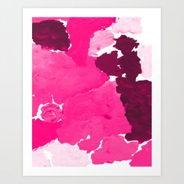 Saria - abstract painting pink magenta blush pastel dorm college girly trend canvas art Art Print