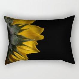 Backside of Sunflower Brush Strokes Digital Artwork Rectangular Pillow