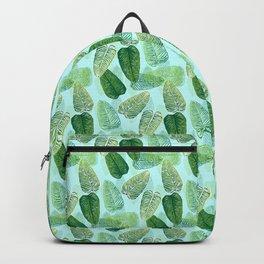 Summer Leaves - Blue Background Backpack