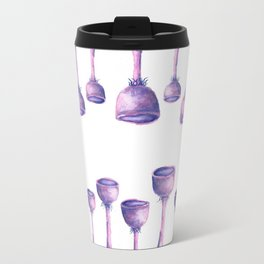 Purple Mushrooms Travel Mug