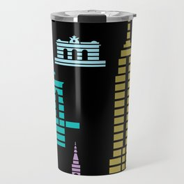 New York Skyline Empire State Poster Black Travel Mug