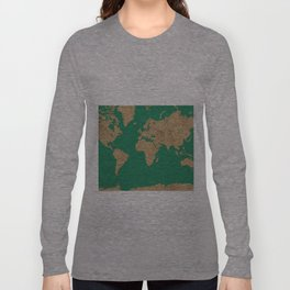 Sand balls - Organic World Map Series Long Sleeve T-shirt