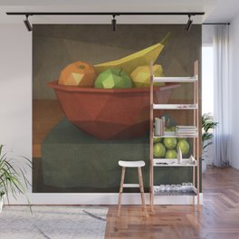 Low-polygon style still life painting Wall Mural